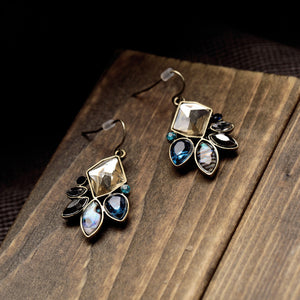 Elegant Geometric Statement Drop Earrings - Fantasy Jewelry Online