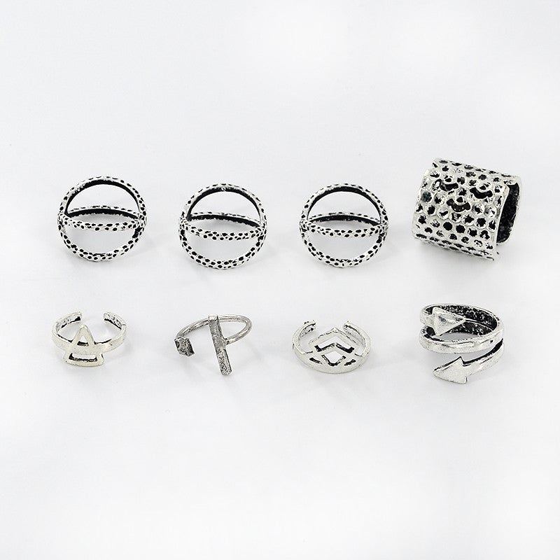 6 piece Bohemian Arrow Rings Set - Fantasy Jewelry Online