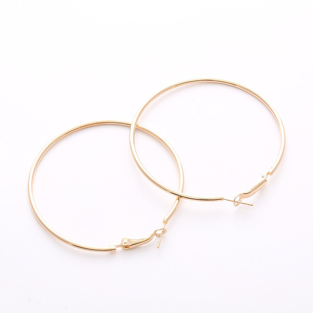 Chic Hoop Earrings 80mm