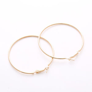 Chic Hoop Earrings 60mm - Fantasy Jewelry Online