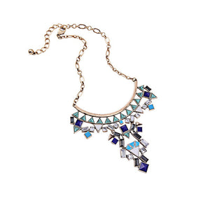 Harper Geometric Statement Necklace - Fantasy Jewelry Online