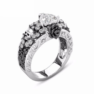 Heart Rose Skull Princess Ring - Fantasy Jewelry Online