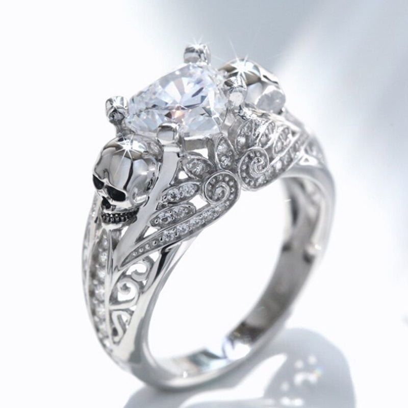 Heart Skull Princess Ring - Fantasy Jewelry Online