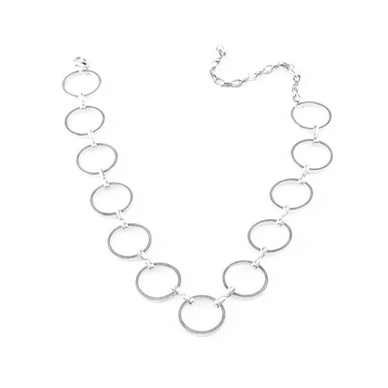 Hollow Circles Choker Necklace - Fantasy Jewelry Online