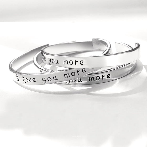 """I Love You More"" Bangle Bracelet"