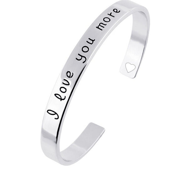 """I Love You More"" Bangle Bracelet - Fantasy Jewelry Online"