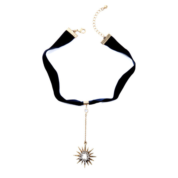 Crystal Starburst Choker Necklace - Fantasy Jewelry Online