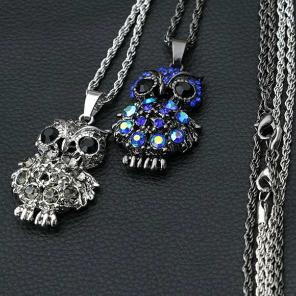 Luxe Owl Necklace - Fantasy Jewelry Online