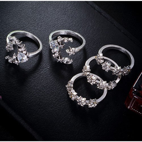 Moon Stars Ring Set (5 piece set)