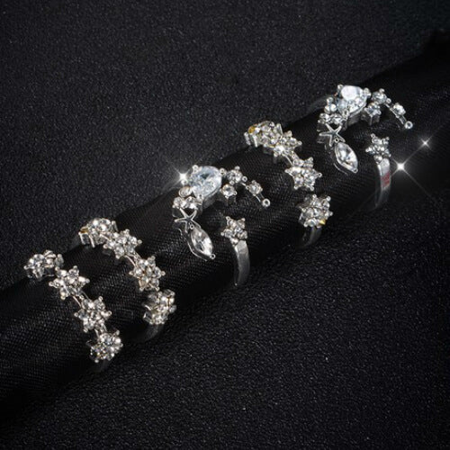 Moon Stars Ring Set (5 piece set) - Fantasy Jewelry Online