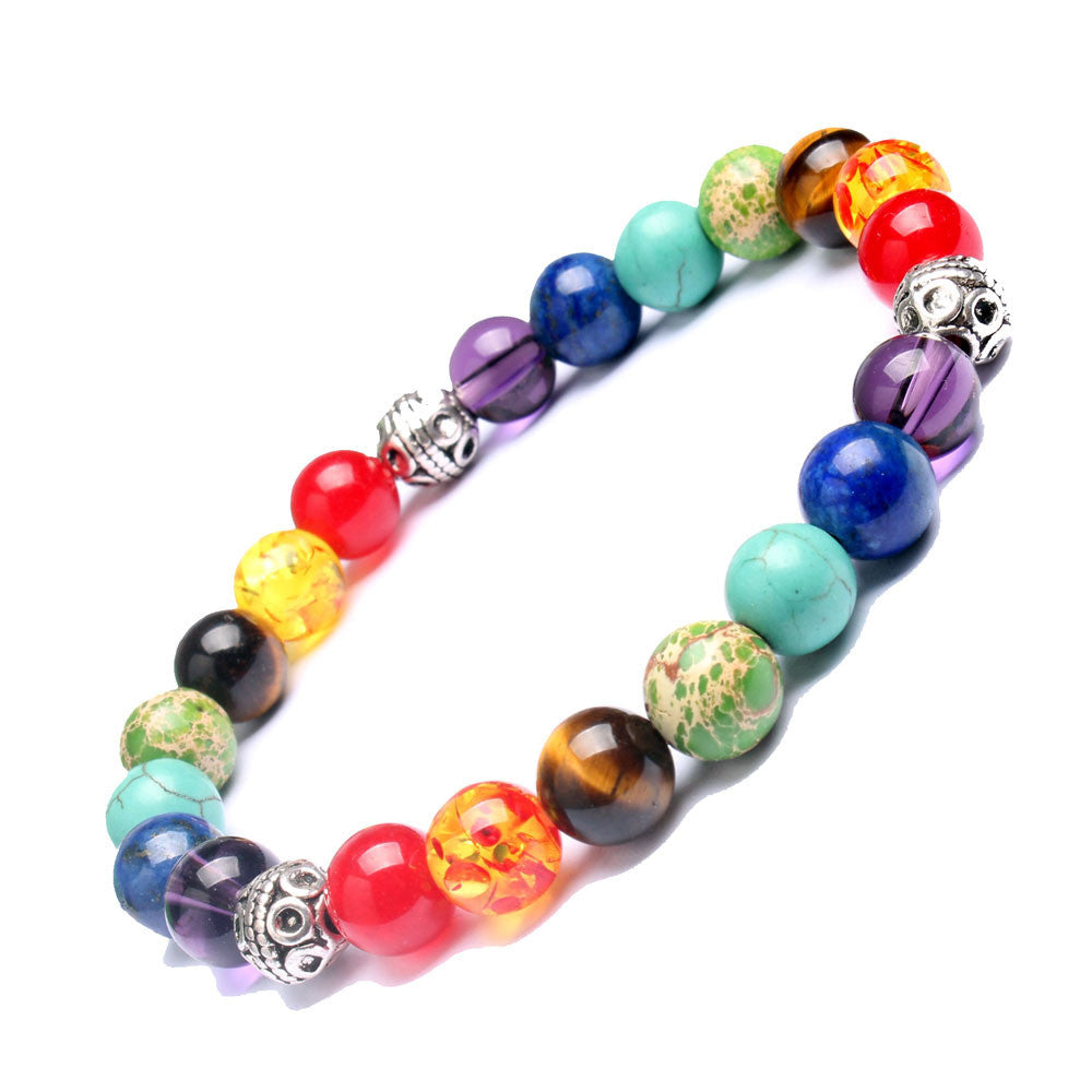 Multi-Color Chakra Healing Balance Beads Bracelet - Fantasy Jewelry Online