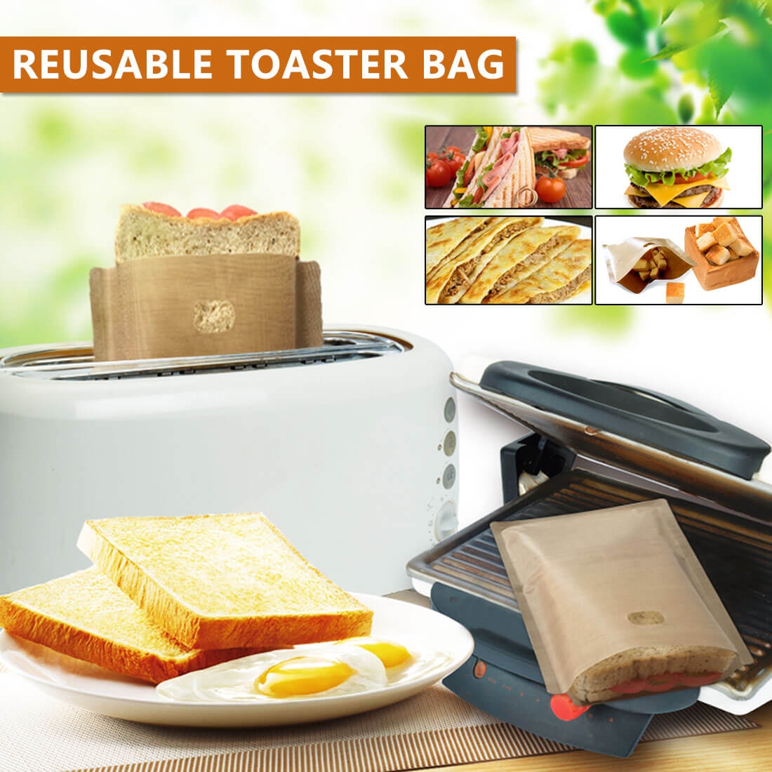 Reusable Toaster Bag (5 pcs) - Fantasy Jewelry Online