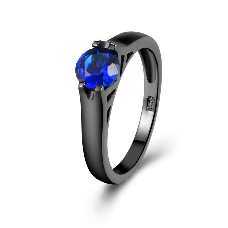 September Birthstone Sapphire Solitaire Ring - Fantasy Jewelry Online