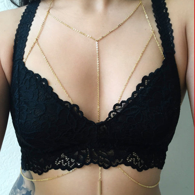 Sexy Gold Body Chain - Fantasy Jewelry Online