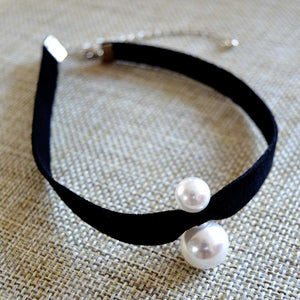 Simulated Double Pearl Choker - Fantasy Jewelry Online
