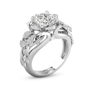 Solitaire Princess Rose Ring - Fantasy Jewelry Online