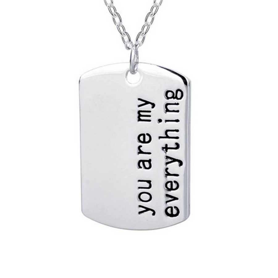 You Are My Everything Pendant Necklace - Fantasy Jewelry Online