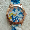 Flower Print Floral Jelly Watch - Fantasy Jewelry Online