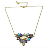 Faux Crystal Gem Cluster Statement Necklace - Fantasy Jewelry Online