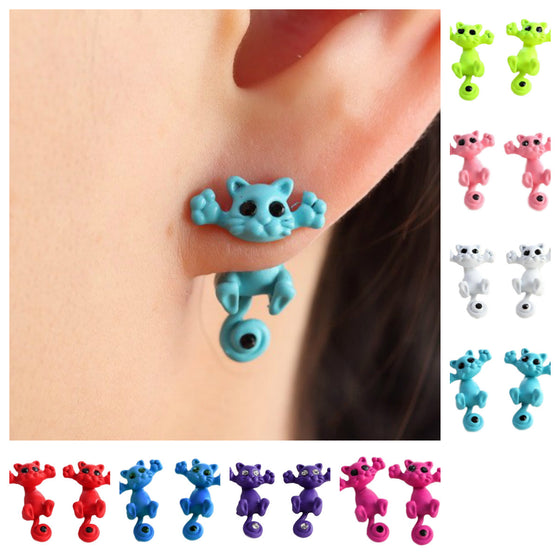 Cute Cat Stud Earrings - Limited Time Only! - Fantasy Jewelry Online