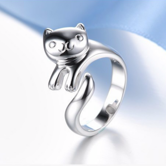 Cuddly Cute Cat Ring - Fantasy Jewelry Online