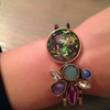 Multi-color Faux Crystal Cuff Bracelet - Fantasy Jewelry Online