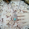 Bohemian Turquoise Stone Heart Necklace - Fantasy Jewelry Online
