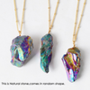 Natural Multicolour Plated Crystal Pendant Necklace - Fantasy Jewelry Online