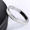 Platinum Plated Frosting Surface Silver Ring - Fantasy Jewelry Online