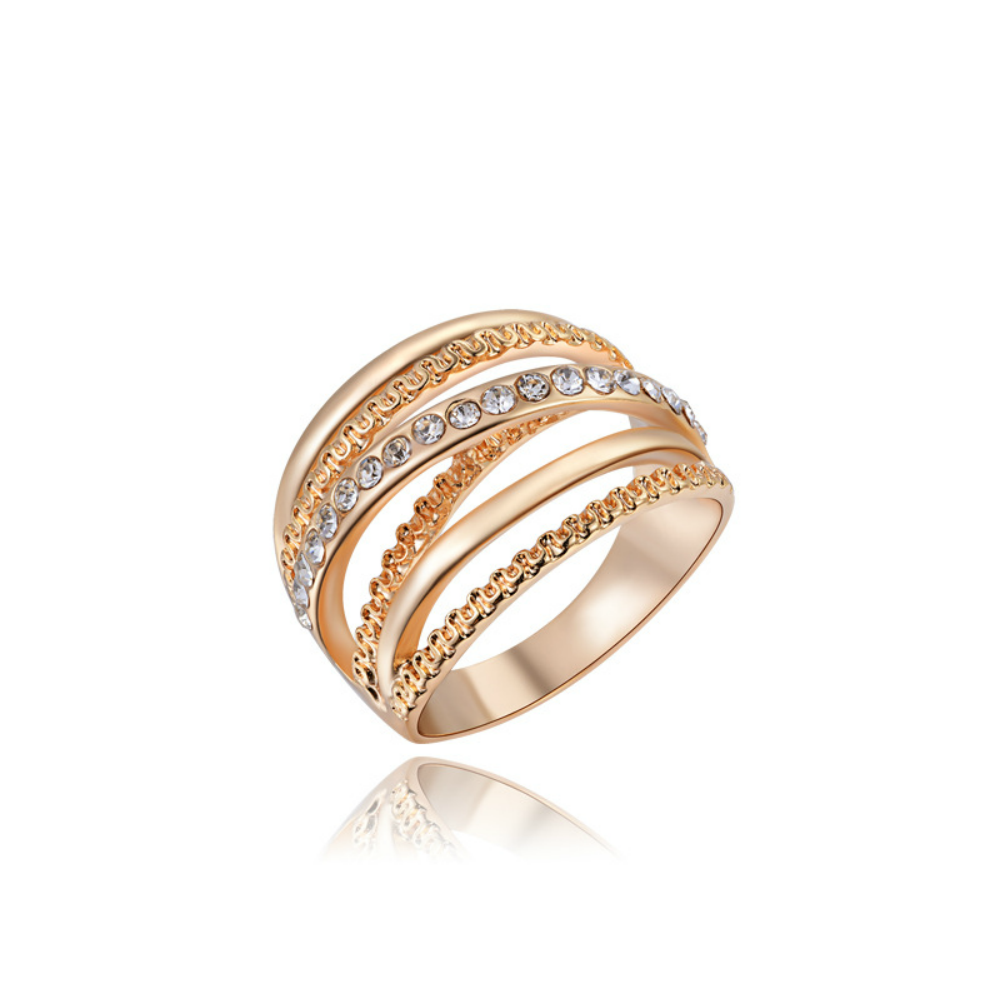 Luxury 18k Rose Gold Plated Orbital Ring Fantasy Jewelry Online