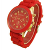 Rose Gold Silicone Strap Sport Watch - Fantasy Jewelry Online