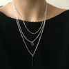 Triple Layer Bar and Coin Chain Pendant Necklace - Fantasy Jewelry Online