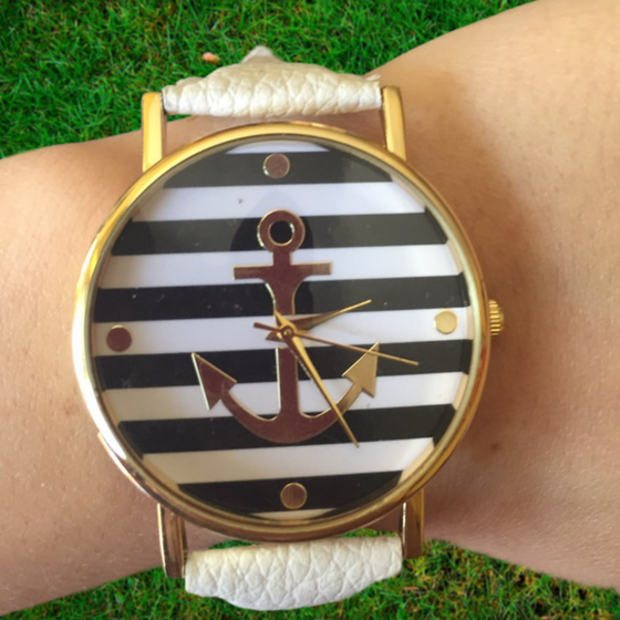 Anchor Analog Quartz Wristwatch - Fantasy Jewelry Online