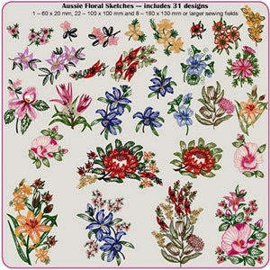 Aussie Floral Sketches CD