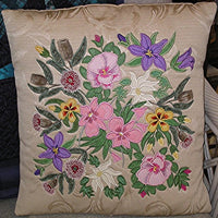 Floral Applique Cushion - CD
