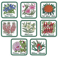 Aussie State Floral Emblem Coasters CD