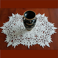 Lace Table Runner 05 - Sturt Desert Peas