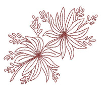 Native Flannel FLower - Redwork