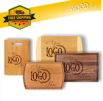 CUSTOM LOGO / DESIGN - Wood Cutting Board
