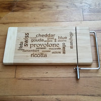 Homage To Fromage - Cheese Lover's Design - Cheese Cutting Board - Laser Light Industries