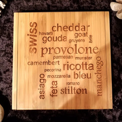 Bamboo Cheese Set with 4 Tools: HOMAGE TO FROMAGE