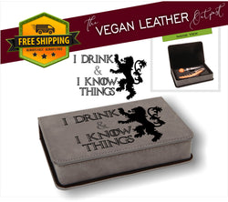 2 Piece Vegan Leather Wine Set (MV STORE)