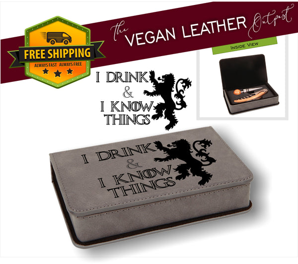 2 Piece Vegan Leather Wine Set (MV STORE) - Laser Light Industries