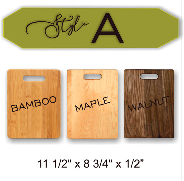 CUSTOM LOGO / DESIGN - Wood Cutting Board - Laser Light Industries