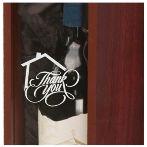 "Personalized Wine Box - ""Thank You"" House Edition - Laser Light Industries"