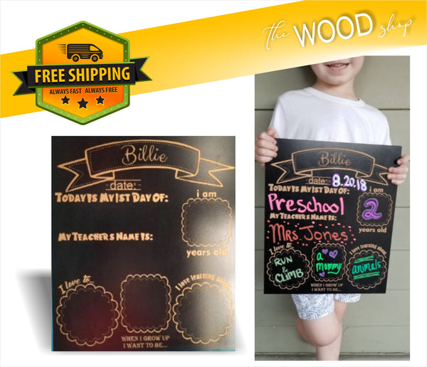 Chalkboard Sign (MV STORE) - Laser Light Industries