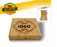 Bamboo Cheese Set with 4 Tools: CUSTOM ARTWORK - Laser Light Industries