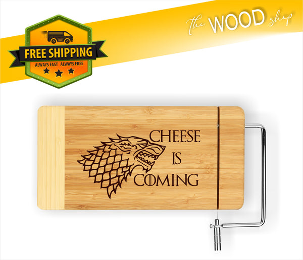 Cheese Is Coming (Game Of Thrones Inspired) - Cheese Cutting Board - Laser Light Industries