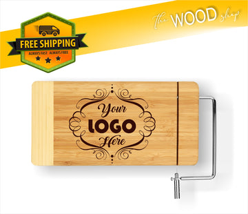 CUSTOM Logo Or Design - Cheese Cutting Board