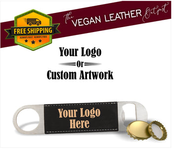 Custom Logo Or Artwork - Vegan Leather Bottle Opener